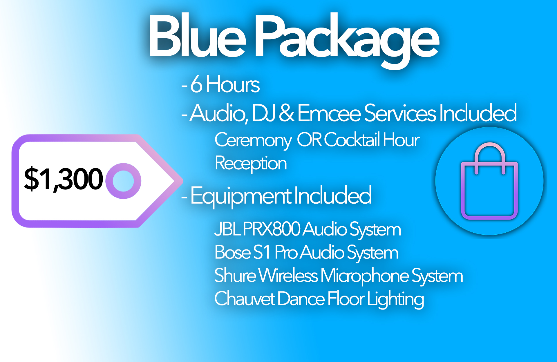 Blue Package Card